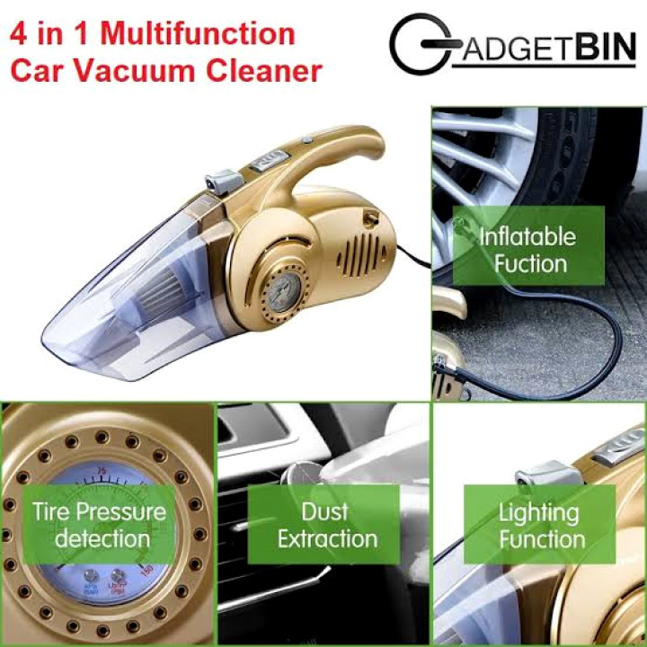 Car Vacuum Cleaner With Tyre Inflator