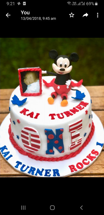 Admirable Mickey Mouse 1St Birthday Cake 1 5Kg Funny Birthday Cards Online Sheoxdamsfinfo
