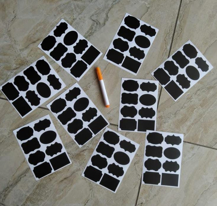 4pcs Labelling Stickers With A Pen