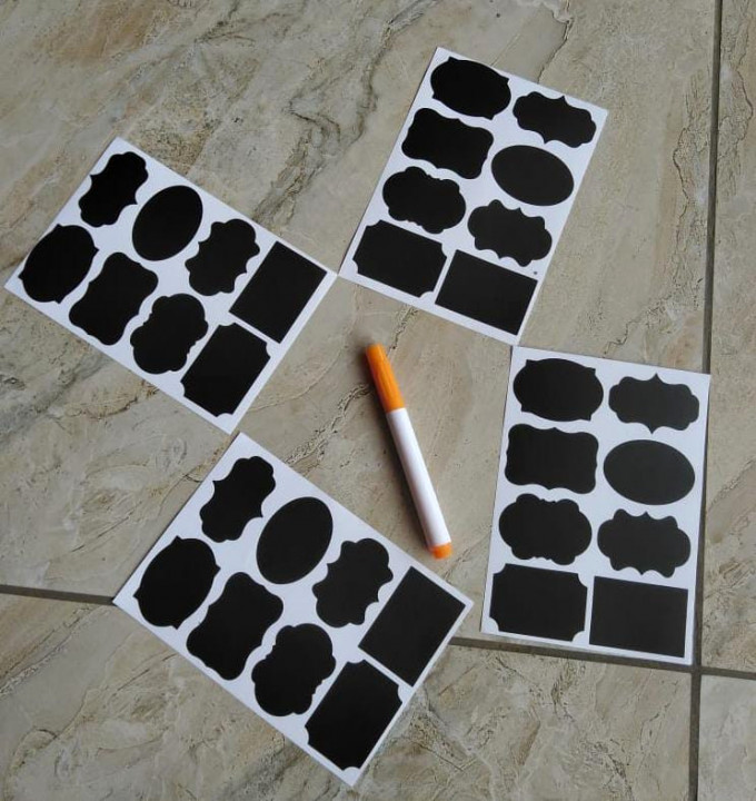 8pcs Labelling Stickers With A Pen