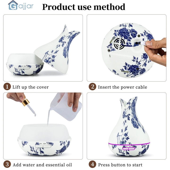 Air Humidifier With 10ml Essential Oil